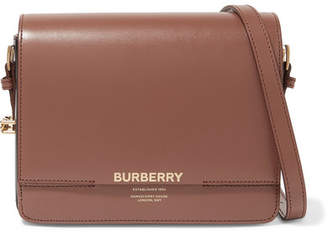 Burberry Small Two-tone Leather Shoulder Bag - Brown