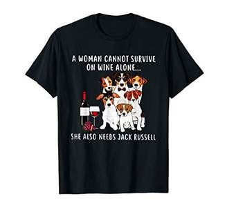 A Woman Cannot Survive On Wine Alone Need Jack Russell Shirt