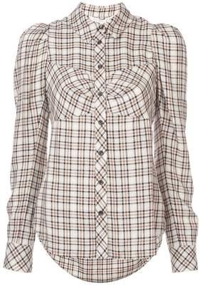 Veronica Beard Candice plaid shirt