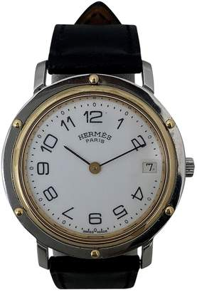 Hermes Vintage Clipper White gold and steel Watches