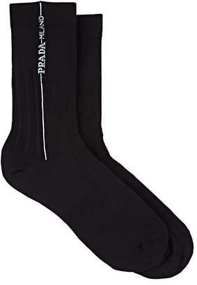 Prada Women's Compact Knit Mid-Calf Socks