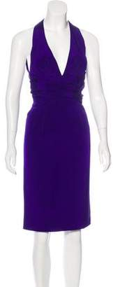 Zac Posen Silk Midi Dress