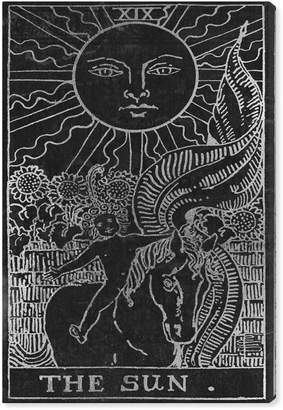 Oliver Gal The Sun Tarot Silver Canvas Art