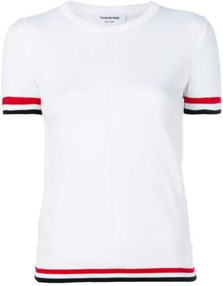 Thom Browne contrast trim T-shirt