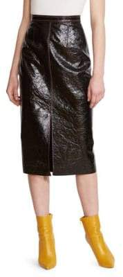 Roland Mouret Birch Mixed Media Leather Pencil Skirt