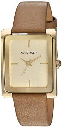 Anne Klein (アン クライン) - Anne Klein Women 's AK / 2706chdtゴールド調とダークタンレザーストラップウォッチ