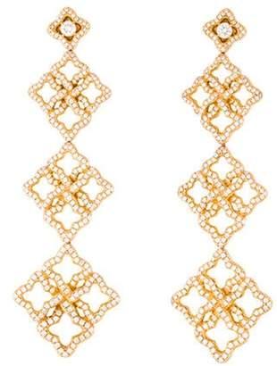 David Yurman 18K Diamond Venetian Quatrefoil Earrings yellow 18K Diamond Venetian Quatrefoil Earrings