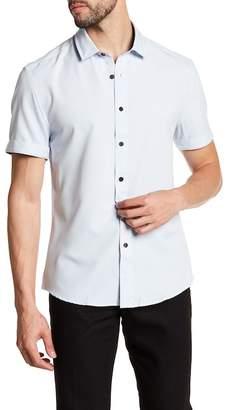 Vince Camuto Check Short Sleeve Trim Fit Sport Shirt
