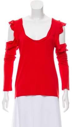 Pam & Gela Ruffle-Accented Long Sleeve Top
