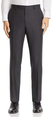 John Varvatos Micro-Checked Wool Flannel Slim Fit Suit Pants