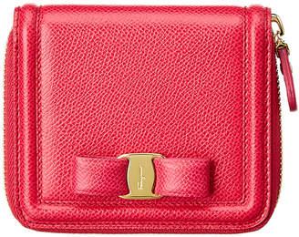 Salvatore Ferragamo Vara Leather Zip Around Wallet