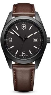 Victorinox Garrison Black Dial Leather Strap Ladies Watch 26073CB