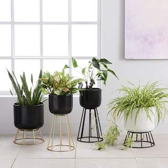 west elm Wire Global Standing Planters