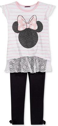Disney's® Minnie Mouse 2-Pc. T-Shirt & Leggings Set, Toddler & Little Girls (2T-6X) $38 thestylecure.com