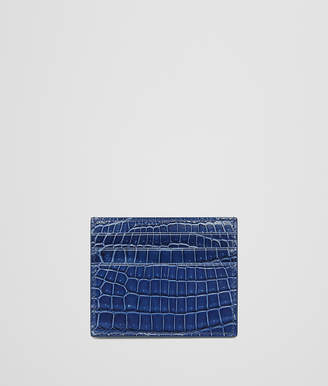 Bottega Veneta COBALT BLUE CROCODILE CARD CASE