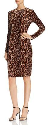 Aqua Leopard Velvet Sheath Dress - 100% Exclusive