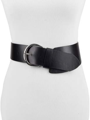 Chaps Women's Asymmetrical Wide Stretch Belt