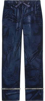 Gucci Velvet pajama pants