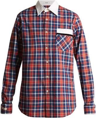 BLOUSE Stevie point-collar cotton-tartan shirt