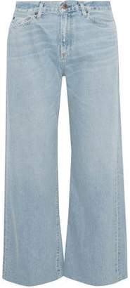 Simon Miller Wrell Distressed Mid-Rise Wide-Leg Jeans