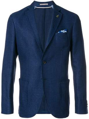 Paoloni single breasted fitted blazer