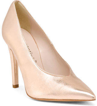 Made In Italy Metallic Pointy Toe Pumps