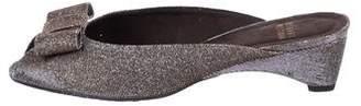 Stuart Weitzman Metallic Pee-Toe Mules