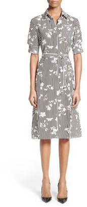 Women's Altuzarra Floral Stripe Silk Shirtdress $1,495 thestylecure.com