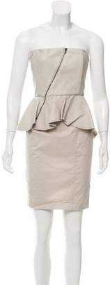 Alice + Olivia Leather Strapless Dress w/ Tags