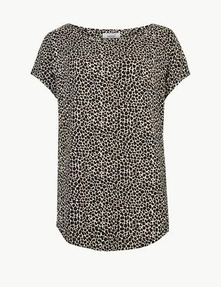 Marks and Spencer Animal Print Short Sleeve T-Shirt