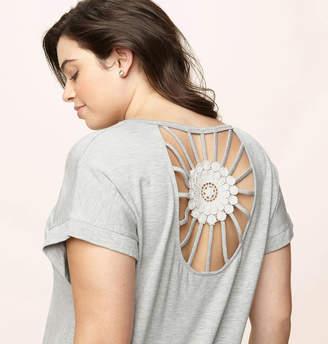 Loralette Crochet Cutout Back Top