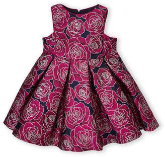 Pippa & Julie Toddler Girls) Lurex Brocade Floral A-Line Dress