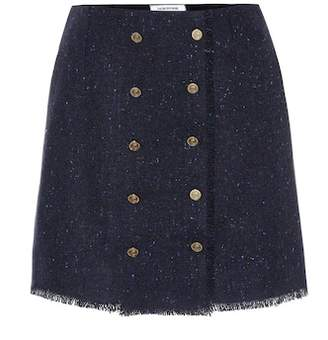 Thom Browne Donegal wool and mohair miniskirt