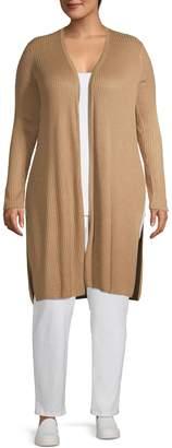 INC International Concepts Plus Long Length Ribbed Cardigan