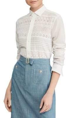 Polo Ralph Lauren Eyelet Poplin Shirt