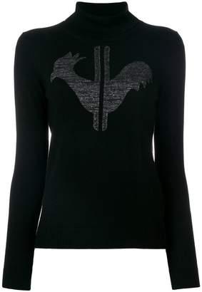 Rossignol logo patch roll-neck sweater