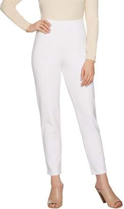 Joan Rivers Classics Collection Joan Rivers Petite Signature Ankle Pants w/ Front Seam Detail