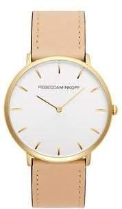 Rebecca Minkoff Major Gold Tone Vanchetta Strap Watch, 40MM