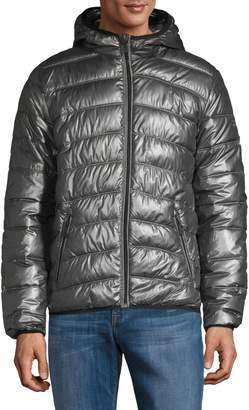 Point Zero Quilted Full-Zip Hooded Jacket