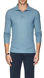 Loro Piana Men's Cashmere Polo Shirt-Lt. Blue