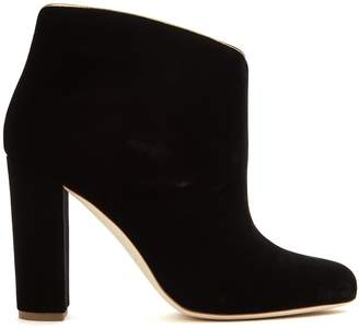 Malone Souliers Eula block-heel velvet boots