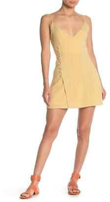 Emory Park Micro Check Surplice Mini Dress