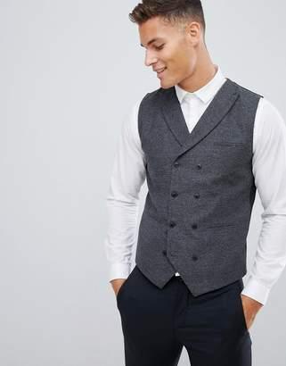 Jack and Jones slim vest with wool mix