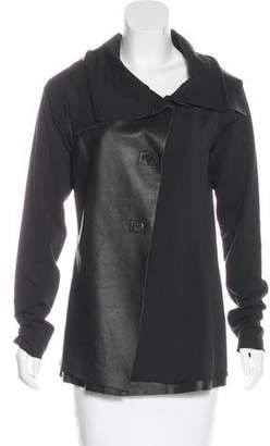 Torn By Ronny Kobo Faux Leather-Paneled Jacket