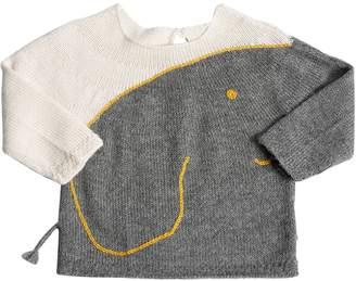 Oeuf Elephant Baby Alpaca Knit Sweater