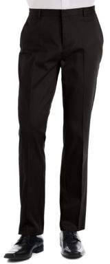 Calvin Klein Slim-Fit Flat-Front Cotton Pants