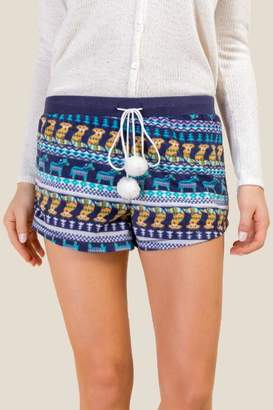 francesca's Critter Fair Isle PJ Short - Navy