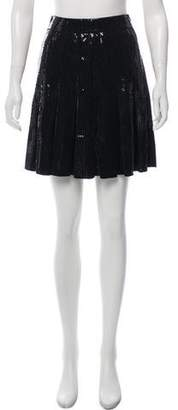 St. John Pleated Mini Skirt