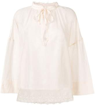 Semi-Couture Semicouture lace trimmed blouse