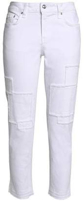 Derek Lam 10 Crosby Cropped Patchwork Mid-Rise Tapered Jeans